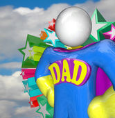 Superhero Dad Super Hero Father Costume — Stock Photo