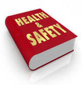 Book of Health and Safety Rules Regulations — Stock Photo