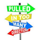 Tiré de trop nombreuses directions signes stress anxiété — Photo