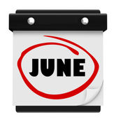 June Word Wall Calendar Change Month Schedule — 图库照片