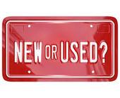 Yeni veya kullanılmış plaka satın araba kamyon — Stok fotoğraf