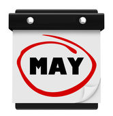 May Month Word Wall Calendar Remember Schedule — 图库照片
