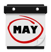 可能一个月词墙上的日历还记得附表吗 — 图库照片
