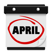 April Month Word Wall Calendar Remember Schedule — Stock Photo