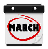March Month Word Wall Calendar Remember Schedule — Stock Photo