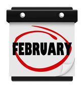 February Month Word Wall Calendar Remember Schedule — Foto de Stock