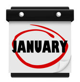 January Month Word Wall Calendar Remember Schedule — Stock Photo