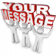 Team Lift Words Your Message Advertising Special Announce — Foto Stock