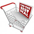 Computer Laptop in Shopping Cart — Stock Photo