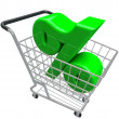 Percentage Sign Shopping Cart Percent Inflation Interest Rate — 图库照片