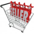 Stock Photo: Five Star Seller Shopping Cart Trusted Best Online Retailer