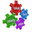 Traits of a Winner - Successful Qualities Skills Talent Attitude - Stock Photo