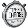 Time for Change Stopwatch Timer Clock — 图库照片