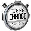 Time for Change Stopwatch Timer Clock — Stok fotoğraf