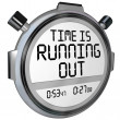 Time is Running Out Stopwatch Timer Clock — 图库照片