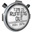 Time is Running Out Stopwatch Timer Clock — Zdjęcie stockowe