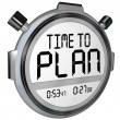 Time to Plan Stopwatch Timer Words Strategy Success — 图库照片