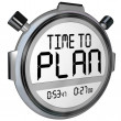 Time to Plan Stopwatch Timer Words Strategy Success — Foto de Stock