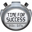 Time for Success Words Stopwatch Timer Win Race — Stock Photo #20331555