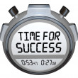Time for Success Words Stopwatch Timer Win Race — Stock Photo