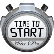 Time to Start Words Stopwatch Timer Clock — Stock Photo #20331571