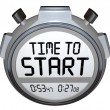 Time to Start Words Stopwatch Timer Clock - Stock Photo