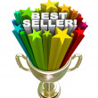 Best Seller Trophy Top Sales Item Salesperson - Stock Photo