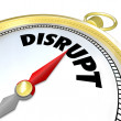 Disrupt Compass Points to Paradigm Shift New Business Model — Foto de stock #20331983