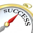 Compass Arrow Pointing to Success Reaching Goal — Stock Photo