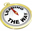 Compass - Leading the Way with Leadership of Group — Foto de Stock