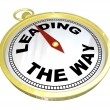 Compass - Leading the Way with Leadership of Group — Stockfoto