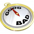Stock Photo: Compass - Leading to Path of Good vs Bad