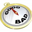 Compass - Leading to Path of Good vs Bad — Stock Photo #20332087