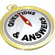 Compass - Questions and Answers Help Assistance — Stock Photo #20332093