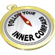 Follow Your Inner Compass Directions for Success - Stock Photo