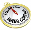 Follow Your Inner Compass Directions for Success — Stock Photo #20332101