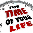 Stock Photo: The Time of Your Life Clock Remember Good Times Memories