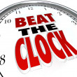 Beat the Clock Words Deadline Countdown — Stock Photo
