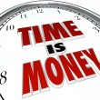 Time is Money Saying Quote Words on Clock - 