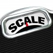 Stock Photo: Scale Word on Measurement Tool Device Measuring Weight