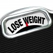 Stock Photo: Lose Weight Words Scale Overweight Losing Fat
