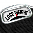 Lose Weight Words Scale Overweight Losing Fat — Stock Photo