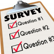 Survey Word Checklist Clipboard Polling Customers Feedback - Stock Photo