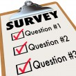 Stock Photo: Survey Word Checklist Clipboard Polling Customers Feedback