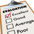 Evaluation Report Card Clipboard Assessment Grades — Stock Photo