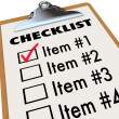 Checklist on Clipboard To-Do Item List — Stock Photo