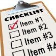 Stock Photo: Checklist on Clipboard To-Do Item List