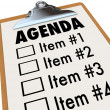 Agenda on Clipboard Plan for Meeting or Project - Stock Photo