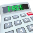 Free Word on Calculator Shows Savings in Sale or Discount Promot — Foto de Stock