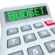 budget mot calculatrice maison d'affaires finances — Photo